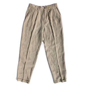 GAP Men's Tan Linen Trousers